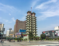 Downtown Zhengzhou, Henan province, China