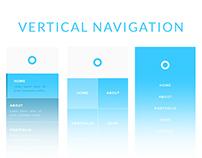 UI Navigation Vertical PSD Drag and Drop