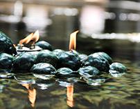 Floating oil lamp
