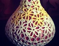 Flower Vase (Quilling)
