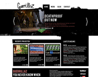 Guerrillaz - webdesign concept