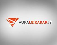 Aukaleikarar.is Logo