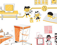 Safety in the nursery, Magazine illustration