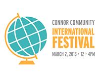 Connor Community International Festival Logo Concepts