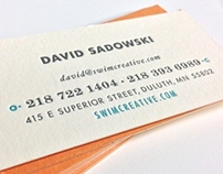 SwimCreative Business Cards