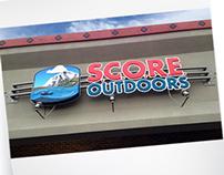 S.C.O.R.E. Outdoors sign