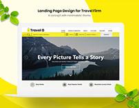Travel site Landing page concept