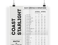 Train Schedule Poster