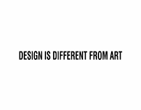 Design is different from Art