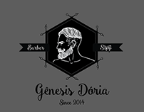Gênesis Dória - Barber Shop Logo Design