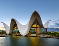 Chapel with undulating roof in South Africa - heavenly!