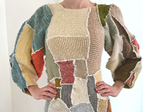 Knit Patchwork Dress