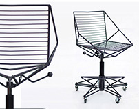 Adjustable metal bar chair Thorn-3