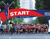 Allianz Pacer Marathon Mock-up Visual Claddings