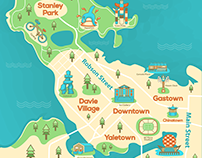 Vancouver - Illustrated map