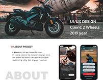UI/UX design for mobile app 2 Wheels