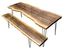 Plywood Slab Table