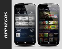 AppVegas - Windows Phone App design