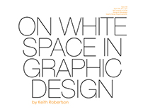 On White Space in Graphic Design