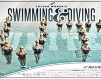 Toledo Rockets Swimming & Diving Poster