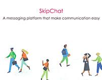 User Interface design of a messaging web application