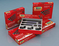 Sencor LED Torch Set Packaging