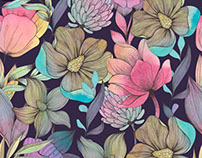 Colorful hand drawn pattern