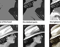 Girl in hat - steps