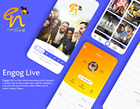 Engog Live App UI/UX Design