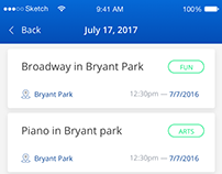 ios app design for Free Summer Events in NewYork