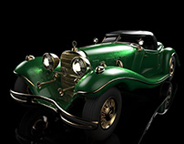 3D Car Modeling: Mercedes-Benz 500K Special Roadster
