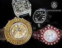 Custom diamond work on watches