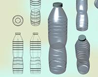Rhino 3D model of Water Bottle
