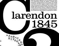 Poster about Clarendon font and its history