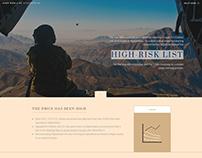Afghanistan Reconstruction High-Risk List