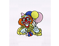 FRIENDLY AND HAPPY CLOWN EMBROIDERY DESIGN