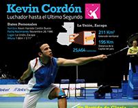 Infografía de Kevin Cordón: Estrella de Badminton