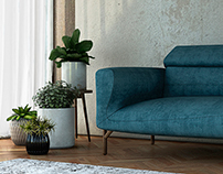 turkuaz sofa set