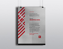 Helvetica Now - Tribute Poster