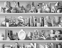 "Collage ""White shelves"""
