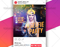 Selfie Party – Animated Flyer PSD Template