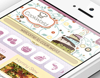Recipes App for iPhone - Web App - UI Design