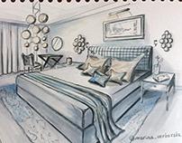 Interior illustration. Interior illustrator