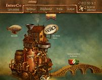 Website for a wholesale coffee retailer (HoReCa) 2012