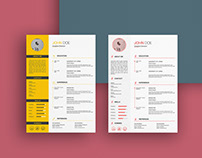 Free Sketch CV/Resume Template