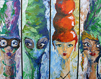 """painting - """"Five ladies"""" - 100/17"""
