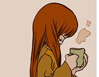 Coffee & people around me....