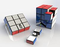 Rubik's Themed Mouse/Dock