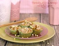 Muffin al cioccolato bianco • food photography