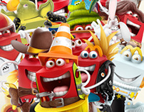 MC DONALD'S - HAPPY MEAL   Cards Game characters
